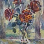 Анна Чепель. Розы, 1999. Розы. Этюд.