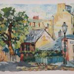 Анна Чепель. Дом Ван Гога. Парижский этюд, 2002. Летний пейзаж с изображением домика Ван Гога в Париже.