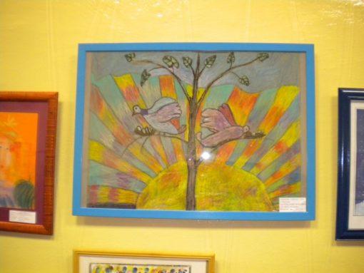 """Картина """"Счастье"""". Работа с детьми. Педагог Анна Чепель."""