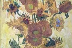 Копия картины Ван Гога Подсолнухи. Холст, масло, 2013. Оформлена в раму. Картина находится в частной коллекции.