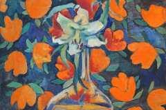 Цветок. Холст, масло, 2002. Оформлена в раму.