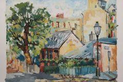 Дом Ван Гога. Парижский этюд. 30x40 см., бумага,гуашь, 2002. Без рамы.
