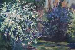 Весенний пейзаж. Холст, масло, 1999. Оформлена в раму.
