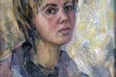 Автопортрет 40x50 см., холст, масло, 2001. Оформлена в раму.