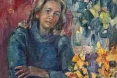 Мама 50x60 см., холст, масло, 2000.