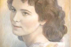 Женский портрет 30x40 см., Бумага, пастель, 2011. Оформлена в раму.Картина находится в частной коллекции
