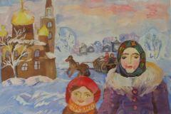 Detskij-risunok-Mama-i-doch-zima-nachalo-veka